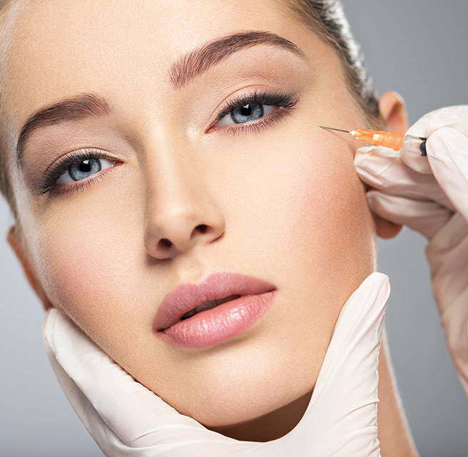 Crow's Feet treatment with botox